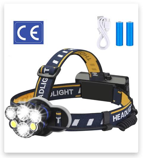 Waterproof Head Light Flashlight Headlight for Outdoor Cycling Camping Fishing